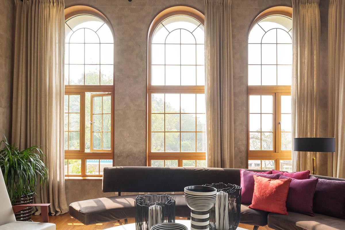 rundbogenfenster stilvoll und klassisch