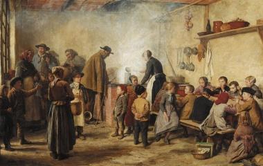 Not hinter der neuen Pracht - Armensuppe 1893 von Albert Anker