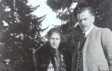 Das Ehepaar Hunkeler-Trucco in jungen Jahren