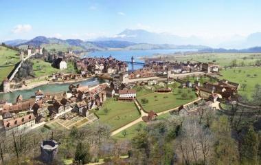 Flussstadt Luzern vor dem Aufbruch in die Moderne (1790)
