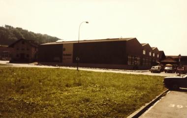 Hallenerweiterung in Ebikon Mitte der 1980er Jahren