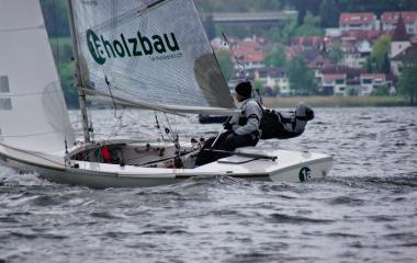 Rolf und Manuel Hunkeler beim Segeln