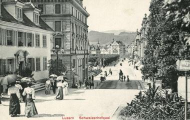 Blick von der Hofkirche bis zum Hotel Schwanen