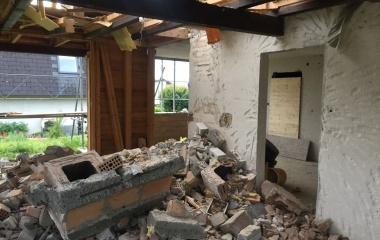 Abbruch des alten Gebäudes