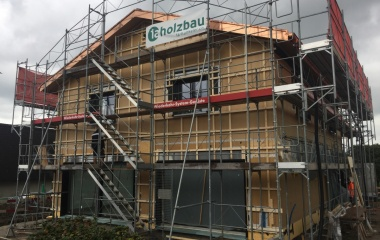 Die Fassade ist bereit für die Holzschalung