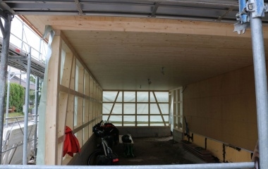 Riegelwandkonstruktion Carport