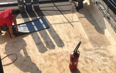 Bauzeitabdichtung des Carports