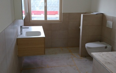 Die Badezimmer sind fertig