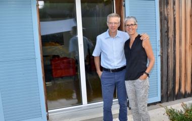 die glückliche Bauherrschaft Herr und Frau Näpflin