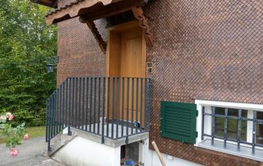 Umbau EFH Ebikon - Geländer nach dem Umbau