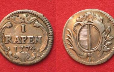Luzerner Zahlungsmittel aus dem Jahr 1774