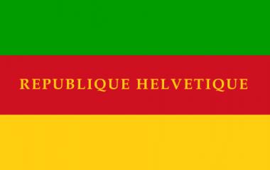 Erste Flagge der modernen Schweiz 1798-1803