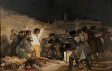 1808 Französische Truppe erschiesst Guerrillakämpfer in Spanien (Goya)
