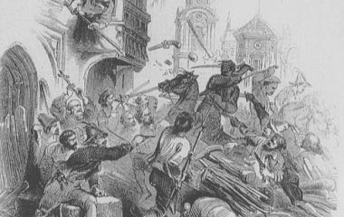 """""""Freischarenschlacht in Luzern"""" -  1845 in Londoner Times"""