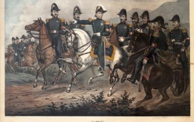 Dufour führt die Tagsatzungstruppen gegen Sonderbundskantone 1847