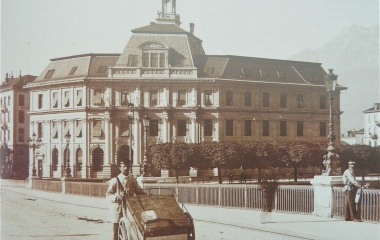 Postgebäude 1870 erbaut - Aufnahme 1888