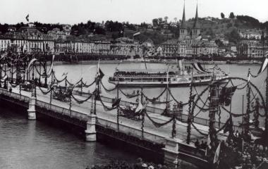1893 Geschmückte Stadt für Kaiser Wilhelm II. 1893