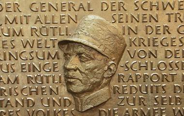 Gedenktafel an General Guisan im Raddampfer Stadt Luzern