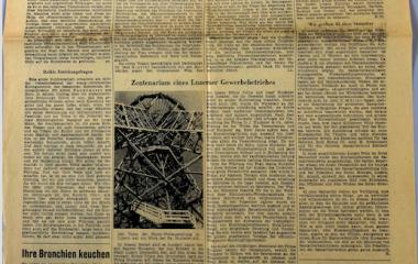100-jähriges Jubiläum - Luzerner Tagblatt