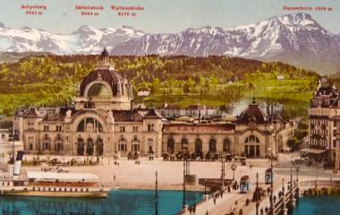 Aus der Tourismusboomzeit kolorierte Postkarte vor 1914