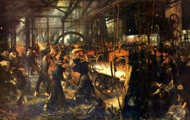 Eisenwalzwerk -  Industrialisierung auf Hochtouren