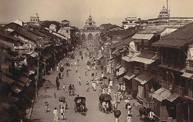 Strassenszene in Britisch Indien um 1890