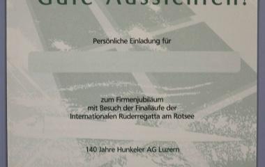 140-jähriges Jubiläum - Einladung zu den Feierlichkeiten