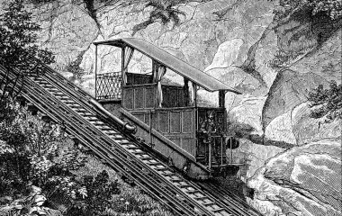 Die Eisenbahn erklimmt auch Berge - Gütsch Standseilbahn von 1884