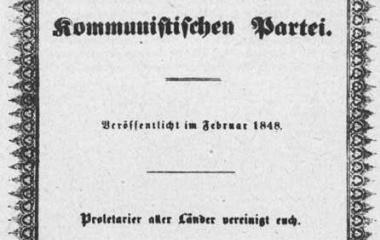 Kommunistische Manifest Marx und Engels Februar 1848