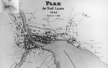 Plan der Stadt Luzern von 1840 (Staatsarchiv Luzern)