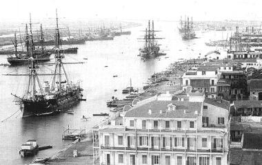 Suezkanal bei Port Said eröffnet 1869