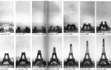 Tour Eiffel gebaut für die Weltausstellung von 1889 in Paris