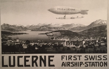 Zeppelin in Luzern 1910