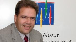 2001 Ruder WM auf dem Rotsee OK Präsident Rolf Hunkeler