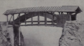 Modell der spektakulären Widigbrücke bei Romoos