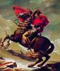 1800 Heldendarstellung Napoléons auf dem St. Bernhard Pass