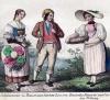 Trachten um 1830 (Lithographie)
