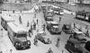 Vielfältige Mobilität  in den 1950er - Verkehr vor der Hauptpost