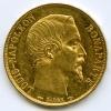 20 francs Münze von 1852 mit Napoléon III. Prägung