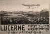 Zeppelin in Luzern 1910